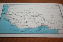 CPA Carte Les Colonies Françaises Afrique Occidentale Française  Sénégal Hte Volta Cote D'Ivoire Etc...façon Chromo - Cartes Géographiques