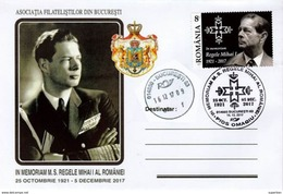 FUNÉRAILLES Du ROI MICHEL I De ROUMANIE / SPECIAL COVER : KING'S MICHAEL I Of ROMANIA FUNERALS : 16 DECEMBER 2017 (AFB) - Marcofilia