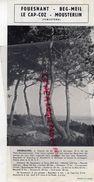 29- FOUESNANT-BEG MEIL- LE CAP COZ- MOUSTERLIN- PUBLICITE 1959- - Dépliants Touristiques