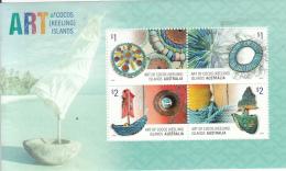 Cocos (Keeling) Islands 2016 MNH Souvenir Sheet Of 4 Art Of The Islands - Cocos (Keeling) Islands