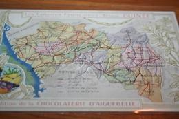 CPA Carte Geographique Chocolat Aiguebelle  Afrique Guinée  Konakry  Colonies Françaises - Cartes Géographiques