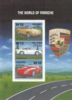 Maldives 2000 MNH Scott #2514 Sheet Of 3 12r Cars The World Of Porsche - Maldives (1965-...)