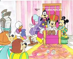 Grenada 1985 MNH Scott #1322 Souvenir Sheet $5 Prince And Pauper Celebrate Disney - Grenade (1974-...)
