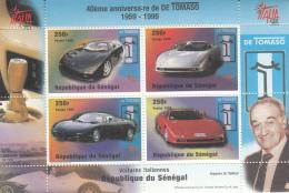 Senegal 1999 MNH Scott #1346 Sheet Of 4 De Tomaso Automobiles Italia 98 - Sénégal (1960-...)
