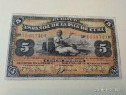 5 Pesos 1896 - Cuba