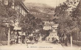 CPA Monaco L'Avenue De La Gare - Monaco