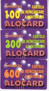 Moldova , Moldavie  Moldau , Old Prepaid Phonecards - Moldcell , 2002 , 100 Units , 300 Units , 600 Units , Paper , Used - Moldova