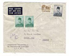 INDONESIE  /  LETTRE  AVEC  CACHETS  ( 4 Timbres Sur Enveloppe , Société SCHNEIDER ) /  Date  :  SURABAJA , Le 1-9-1960 - Indonesia