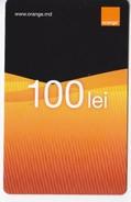 Moldova ,  Moldavie  Moldau ,  Prepaid Phonecard - Orange , 2015  ,  100 Lei , Paper , Used - Moldova