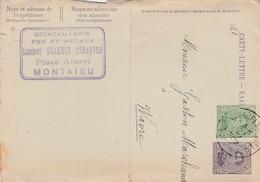 Montaigu ,carte - Lettre ,publicité ,Lambert Grammen Strauven, Quincaillerie ,( Scherpenheuvel ) - Scherpenheuvel-Zichem