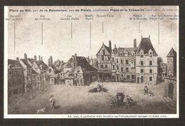 - RARE -LAVAL ( Mayenne ) Place Au Blé,puis Révolution Puis Du Palais ( Collection Archéologique GOUPIL N° 6) Guillotine - Laval