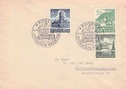 DEUTSCHES REICH - BRIEF POSEN -> HILVARENBEEK/HOLLAND 1941 Mi #752, 753, 754 - Germany