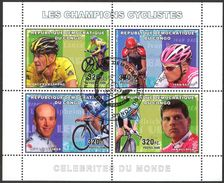 {CN02} Congo 2006 Cycling Champions Sheet Used / CTO - República Democrática Del Congo (1997 - ...)
