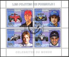 {CN03} Congo 2006 Pilots Of Formula - 1 Sheet Used / CTO - República Democrática Del Congo (1997 - ...)