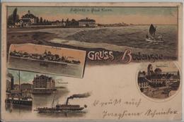 Gruss Vom Bodensee - Schloss Und Bad Horn, Arbon, Rorschach, Romanshorn, Dampfschiff - Litho Carl Künzli No. 195 - TG Thurgovie