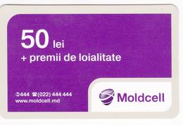 Moldova ,  Moldavie , Prepaid Phonecard - Moldcell , 50 Lei , Tipe 1B , Paper , Used - Moldova