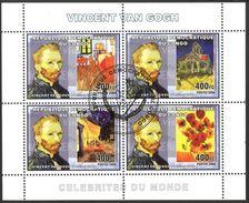 {CN07} Congo 2006 Art Paintings Vincent Van Gogh Sheet Used / CTO - República Democrática Del Congo (1997 - ...)