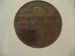 100 F 1984 FRENCH POLYNESIA Polynesie Française Coin - French Polynesia