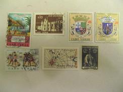 LOT DE 7 TIMBRES OBLITERES  CAP VERT REPUBLICA PORTUGUESA - Isola Di Capo Verde