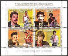 {CN13} Congo 2006 Music Rock Singers Sheet Used / CTO - República Democrática Del Congo (1997 - ...)