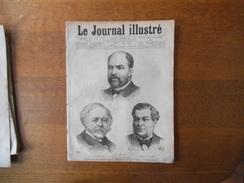 LE JOURNAL ILLUSTRE DU 8 DECEMBRE 1878 M. D'HAUSSONVILLE,N. BARAGNON,OSCAR DE VALLEE,LE NOUVEAU TEMPLE DE BELLEVILLE,LES - Livres, BD, Revues