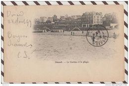 3AB462 DINARD LE CASINO ET LA PLAGE  2 SCANS 1899 - Dinard