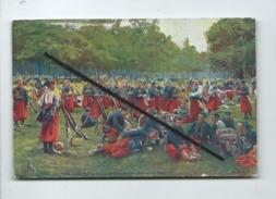 CPA -  En Guerre - Zouaves à La Grand'Halte - Militaria