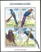 {CY15} Ivory Coast 2014 Birds Sheet Used / CTO - Ivory Coast (1960-...)