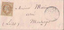 LOIRET - LE SELLE SUR BIED - T24 LE 26 JANVIER 1871 - EMPIRE N°28 OBLITERATION GC3363 - COTE 100€ - 1849-1876: Classic Period