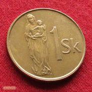 Slovakia 1 Koruna 1995 KM# 12 Eslovaquia Slovaquie - Slovaquie