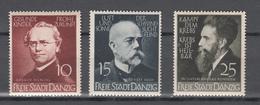 Danzig 1939,3W,Mi306-08,Deutsche Ärzte Und Naturforscher,Postrisch(D2602) - Dantzig