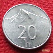 Slovakia 20 Halierov 1999 KM# 18 Eslovaquia Slovaquie - Slovaquie