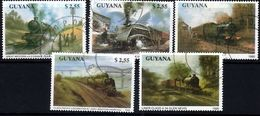 GUYANA 1990 Locomotives $2.55 X 5 Designs Used - Guyane (1966-...)
