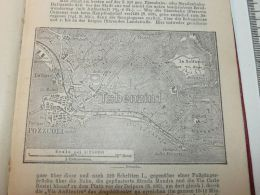 Pozzuoli Italy Map Mappa Karte 1908 - Mappe
