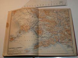 Dintorni Di Napoli Ischia Salerno Benevento Caserta Capua Vesuvio Golfo Italy Map Mappa Karte 1908 - Maps
