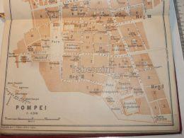 Pompei Italy Map Mappa Karte 1908 - Maps