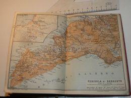 Penisola Di SorrentoGolfo Di Salerno Napoli Gragnano Italy Map Mappa Karte 1908 - Mappe