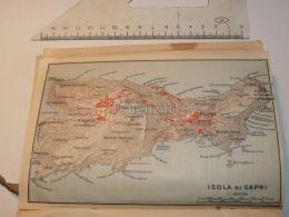 Isola Di Capri Anacapri Caprile Monte Solaro Italy Map Mappa Karte 1908 - Maps
