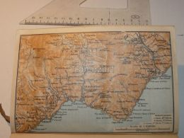 Tramonti Amalfi Majori Vietri Cava Pogerola Italy Map Mappa Karte 1908 - Mappe