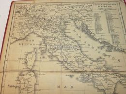Italia Corse Sardegna Sicilia Tunisie Tirol Austria Aschweiz Italy Map Mappa Karte 1908 - Maps