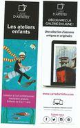 Lot De 2 Marque -page Publicitaire Carre D' Artiste Art Comtemporain - Marcapáginas