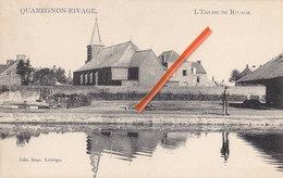 QUAREGNON-RIVAGE - L'Eglise Du Rivage - Avec Le Canal à L'avant Plan - Quaregnon
