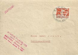 "Motiv Brief  ""Studio Filatelico, Ascona""  (Sonderstempel ""Settimane Musicali"")            1954 - Lettres & Documents"