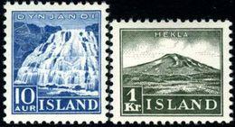 Iceland #193-194 (Michel 181-182)  Mint Never Hinged Set  Of 1935 - Ungebraucht