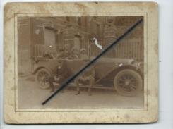 Photo Collée Sur Carton - Auto , Voiture Ancienne - Passenger Cars
