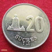 Ecuador 20 Sucres 1988 KM# 94.1 Equador Equateur - Ecuador