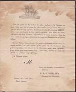 GRACE Isabelle LIBEN épouse S. BAILLEUX 1819 Faire-part Mortuaire Antique GRACE-HOLLOGNE - Obituary Notices