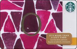 STATI UNITI  GIFT CARD STARBUCKS Alphabet. O US-STARB-6103-2014-015 - Cartes Cadeaux