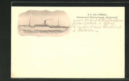 CPA A. B. SS Vondel, Stoomvaart-Maatschappij Nederland, Passagierschiff - Paquebote