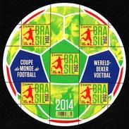 BELGIUM 2014 FIFA Football World Cup: Sheet Of 5 Stamps UM/MNH - Libretti 1962-....